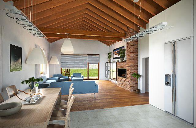 Projekty NICE WOOD-bungalovy - NICE WOOD 138 B -interiér