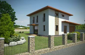 NICE WOOD 100-moderní dům pro středně velkou rodinu.Možno zvolit variantu bez garáže,s garáží,dvojgaráží či garážovým stáním.