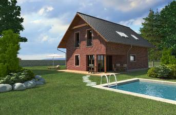 NICE WOOD 88 -dům je možno umístit na rovinatý či mírně svažitý terén.Je vhodný pro 4-5 člennou rodinu
