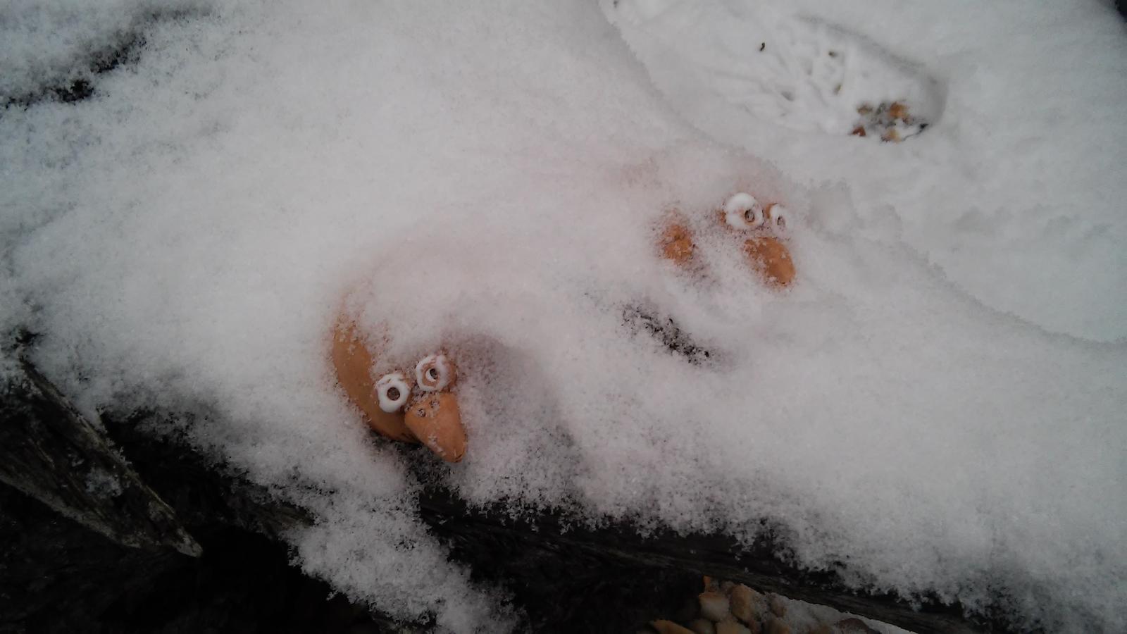 Hlinené dekorácie - Testujem, ci vydrzia v zime vonku a nerozpadnú sa :)