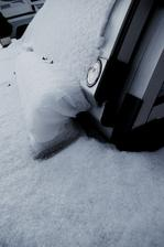 tak takto sa nám zošupovala tenučká vrstva snehu :-)