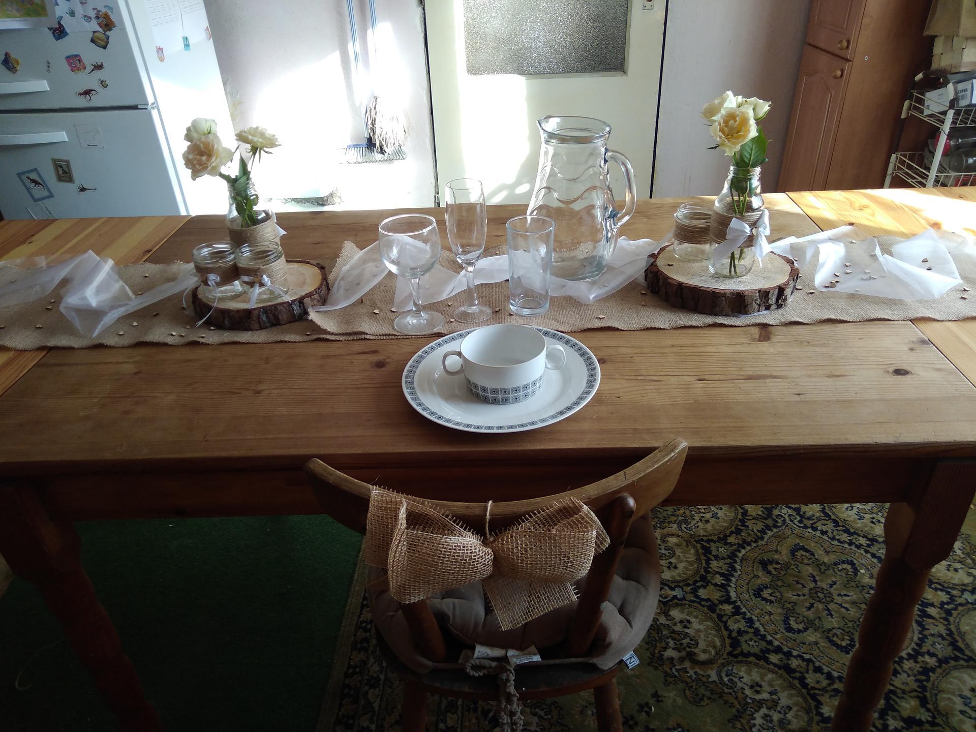 Příprava na svatbu co už mám - Bude ještě bílý ubrus, ale ten doma postrádám