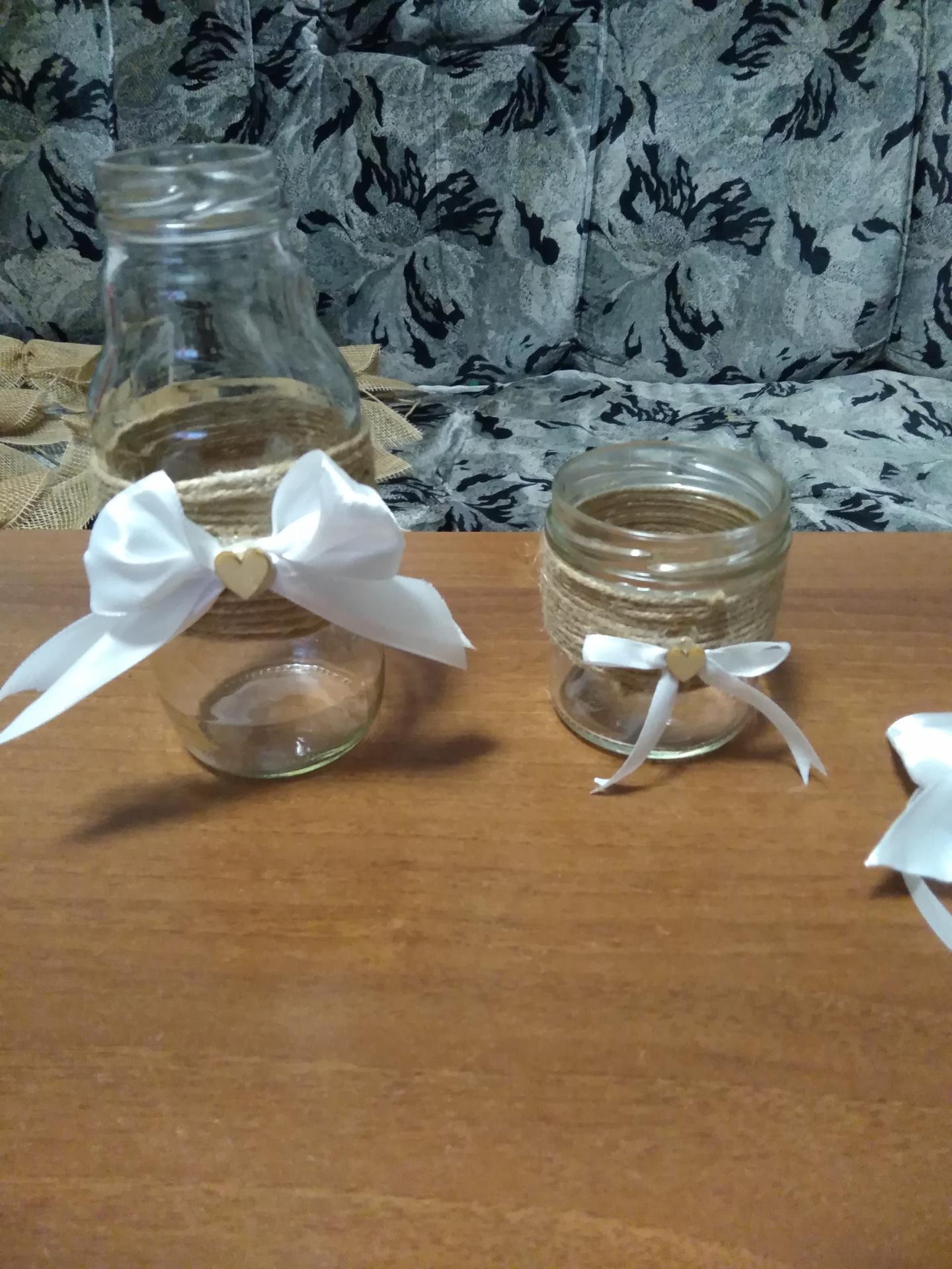 Příprava na svatbu co už mám - Vázy na kytky a skleničky na svíčky