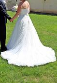 čipkované šaty zn. Pronovias veľkosť 36-38, 36