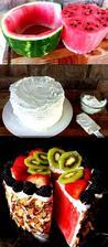 Melónové osvieženie - letná torta