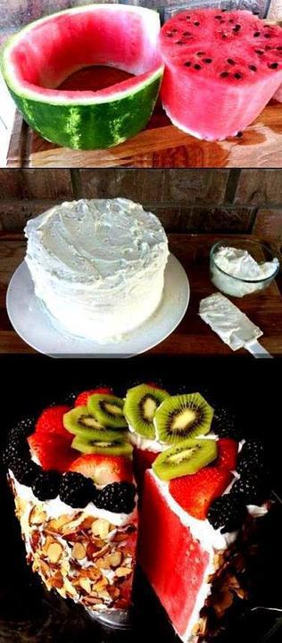 Nápady pre šikulky a šikulkov - Melónové osvieženie - letná torta