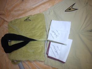 dárek pro mého nastávajícího kapitána:) výbava na svatební cestu:)