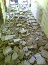 chodba pred rekonštrukciou