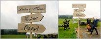 Svatební dřevěná cedule s vašimi jmény,