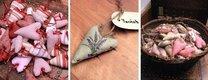 Dekorativní látková srdíčka s vůní levandule,