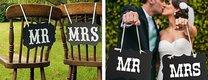 Svatební cedulky MR a MRS,