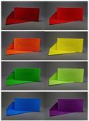 Barevné obdélníkové obálky o velikosti 220x110 mm,
