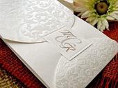 Krémové svatební oznámení,