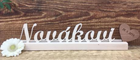 Dřevěné jméno/iniciály na Váš svatební stůl - Obrázek č. 2