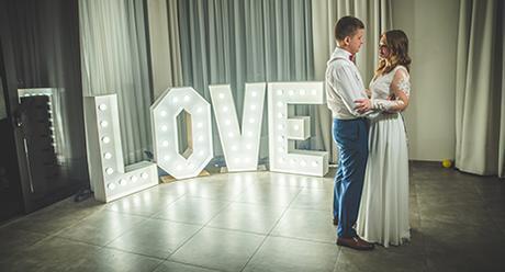Svítící nápis LOVE - Obrázek č. 1
