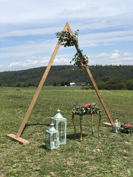 Set na venkovní obřad Boho Triangl - Obrázek č. 1