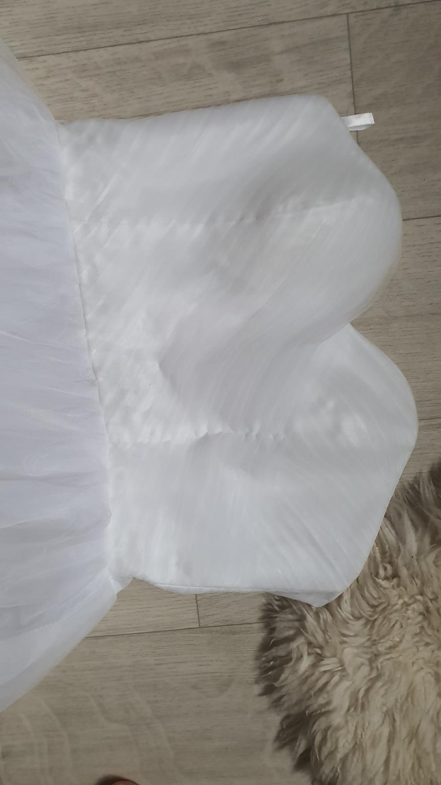 Tutu tylové svatební šaty korzezové dlouhé - Obrázek č. 3