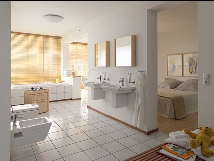Moje milovane bungalovy - zariadenie, pôdorysy, rozloženie... - Vlastná kúpeľna pre spálňu