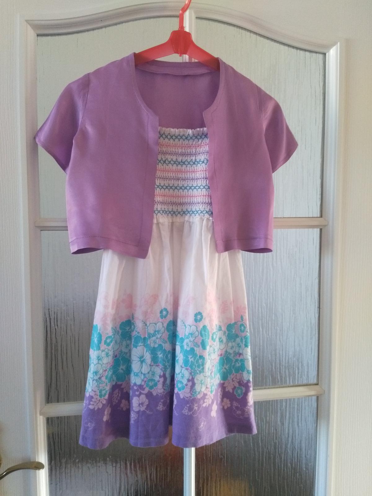 Šaty s bolerkem vel. 6-7let - Obrázek č. 1