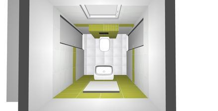 Prízemie - Návrh WC