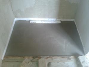 Prízemie - Sprcha Jul_18_2013 - priprava sprchového kútu - zalievanie betónom - deň tretí