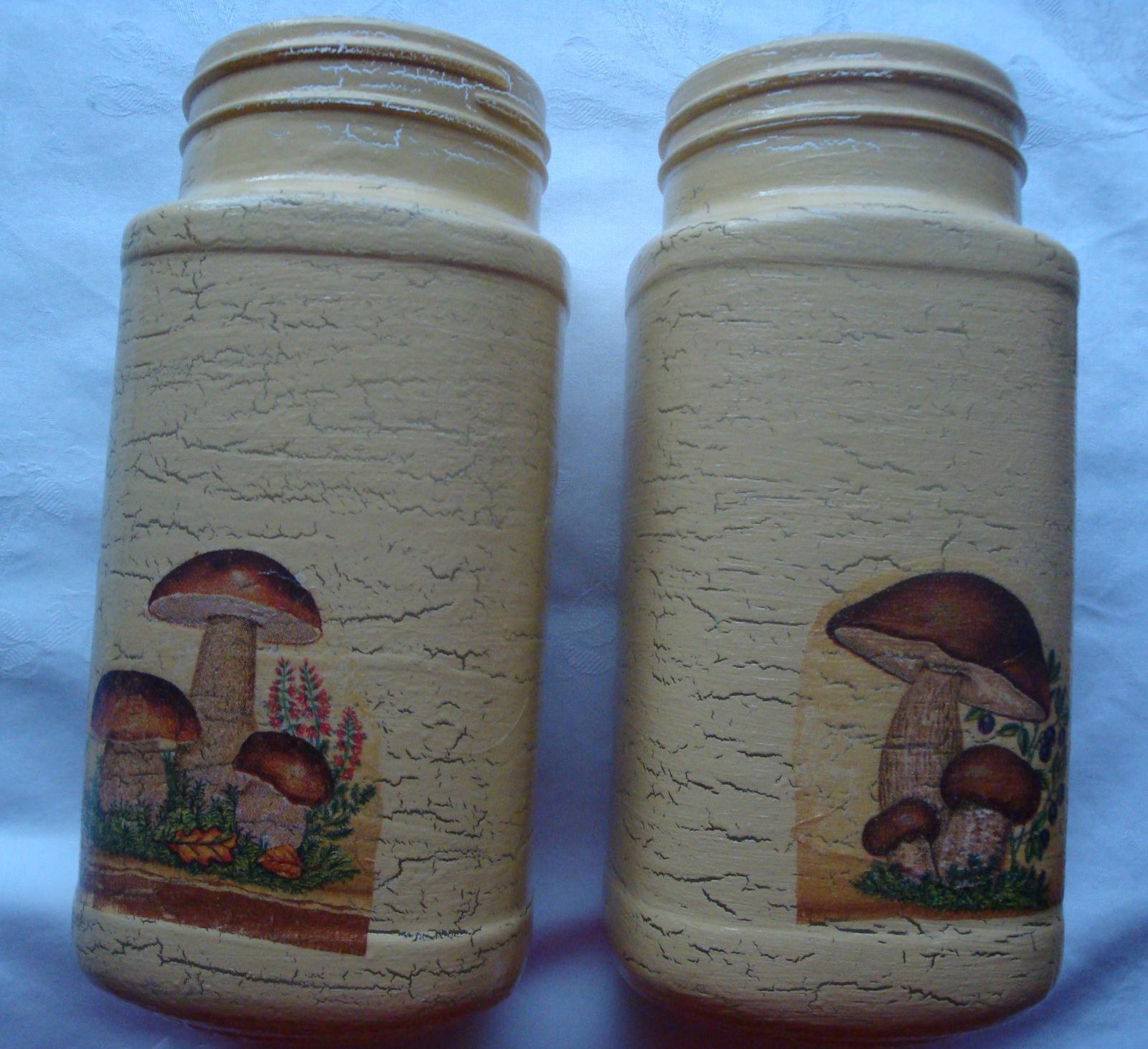 Dekoračné flašky-nádobky - Obrázok č. 3