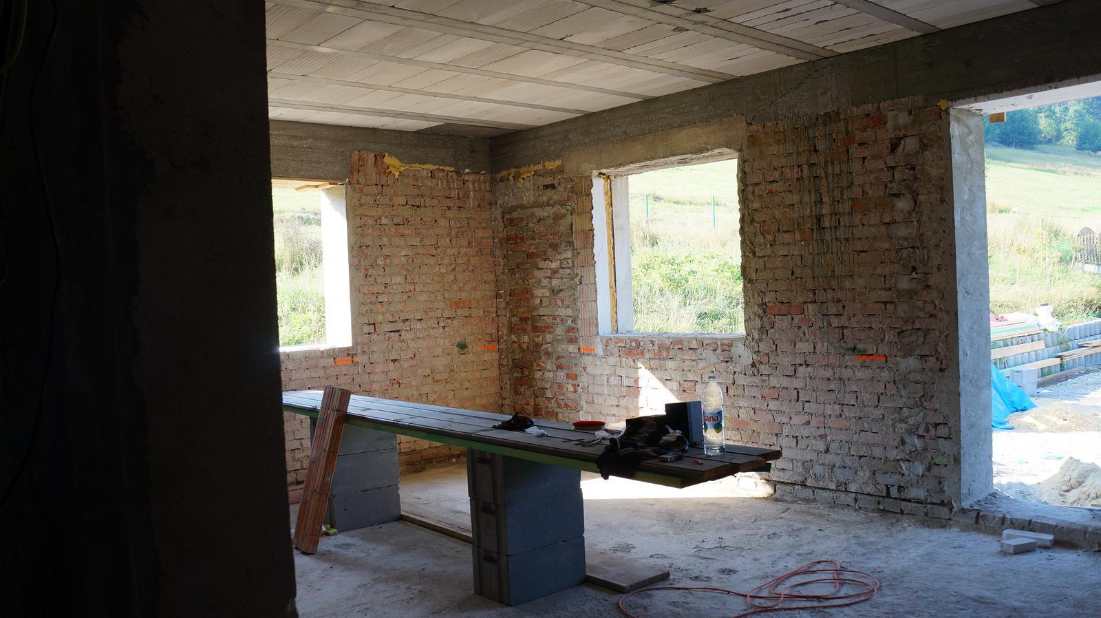 *Sen-stavba-dom-domov * - denný priestor, obývačka spojená s kuchyňuo :ň