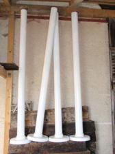 rolky na baldachin, so stojanmi vyrobenymi od braska