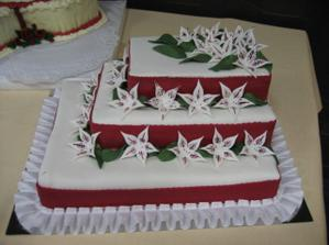 svadobna torta od svokricky, teta pomahala...ci naopak? :)
