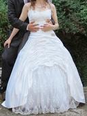 Svatební šaty s krajkou - vel. 36 - 44, 38