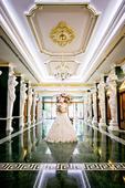 Biele čipkované svadobné šaty, 38
