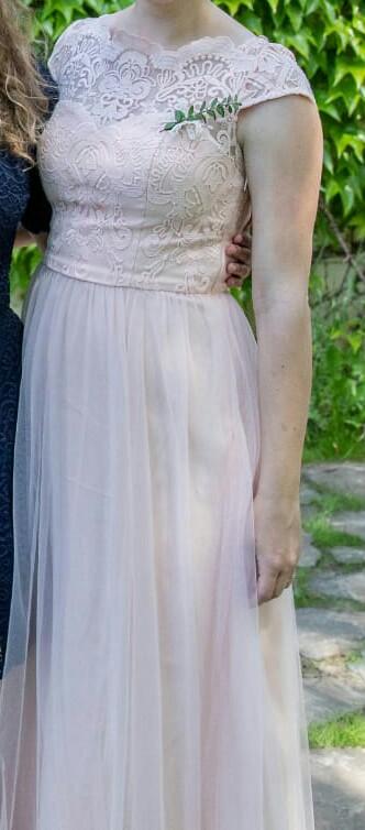Dlouhé meruňkové šaty pro svědkyni/družičku - Obrázek č. 1