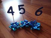 Číslice na označení stolů,