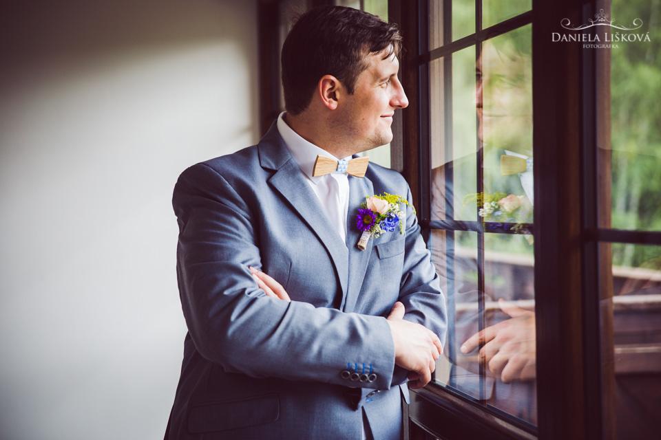 Ranní přípravy ženicha - svatba v penzionu Rochota - Ranní přípravy ženicha v penzionu Rochota