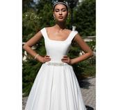 Saténové svadobne šaty, 38