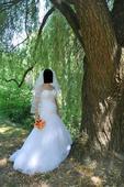 Snehobiele svadobné šaty , 36