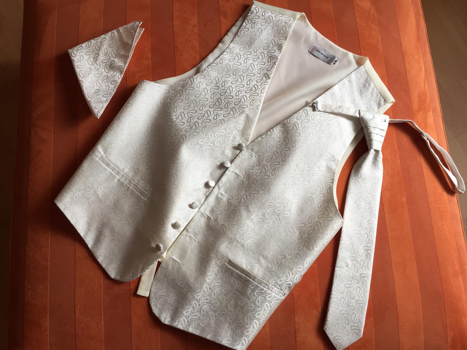 Vesta, kravata a vreckovka pre zenicha - Obrázok č. 1