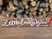 Dřevěná cedule- Zamilovaný ostrov,