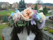 Květinový věnec - parta - do vlasů,