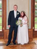 Svatební šaty pro menší nevěstu vel. 46-50, 46