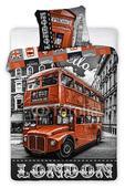 Dětské povlečení - LONDON - BUS - ULICE,