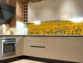 Samolepicí fototapeta do kuchyně - LÁNY SLUNEČNIC,