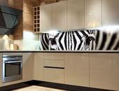 Samolepicí fototapeta do kuchyně - ZEBRA,