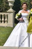 Svatební korzetove šaty, 38