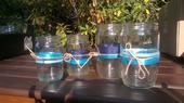 ozdobené sklenice,