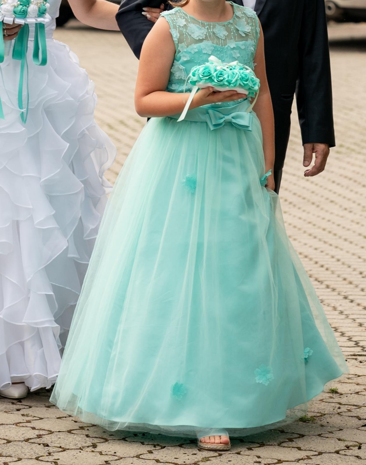 Spoločenské šaty pre dievčatko 8-10 rokov - Obrázok č. 1