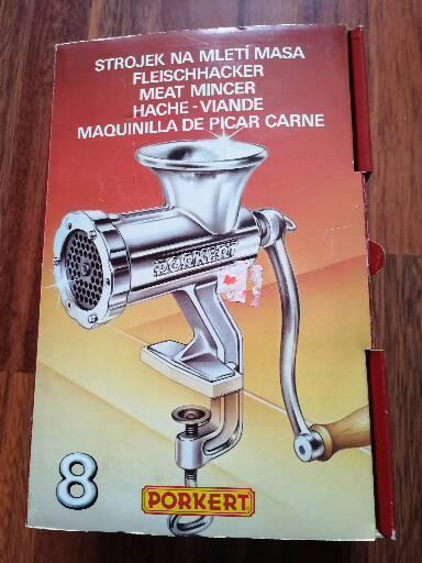 Mlynček na mäso Porkert č 8 - Obrázok č. 1