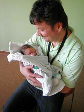 S tatínkem..Narodil jsem se 6.3.2011