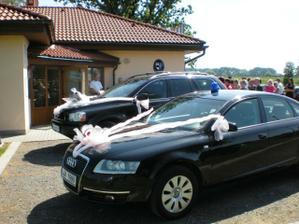 auta nevěsty a ženicha