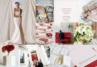 Rozhodnuto - svatba bude v tónech tmavě červené a krémově bílé